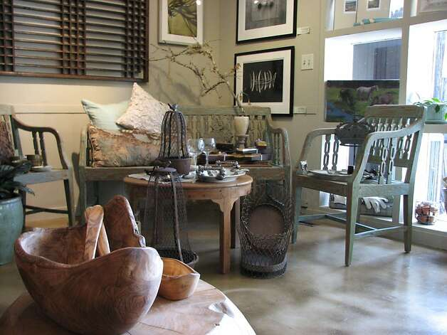 Home decor at The Red Pear, an art and interior furnishings store in the Carmel Valley Village. Photo: Meredith May