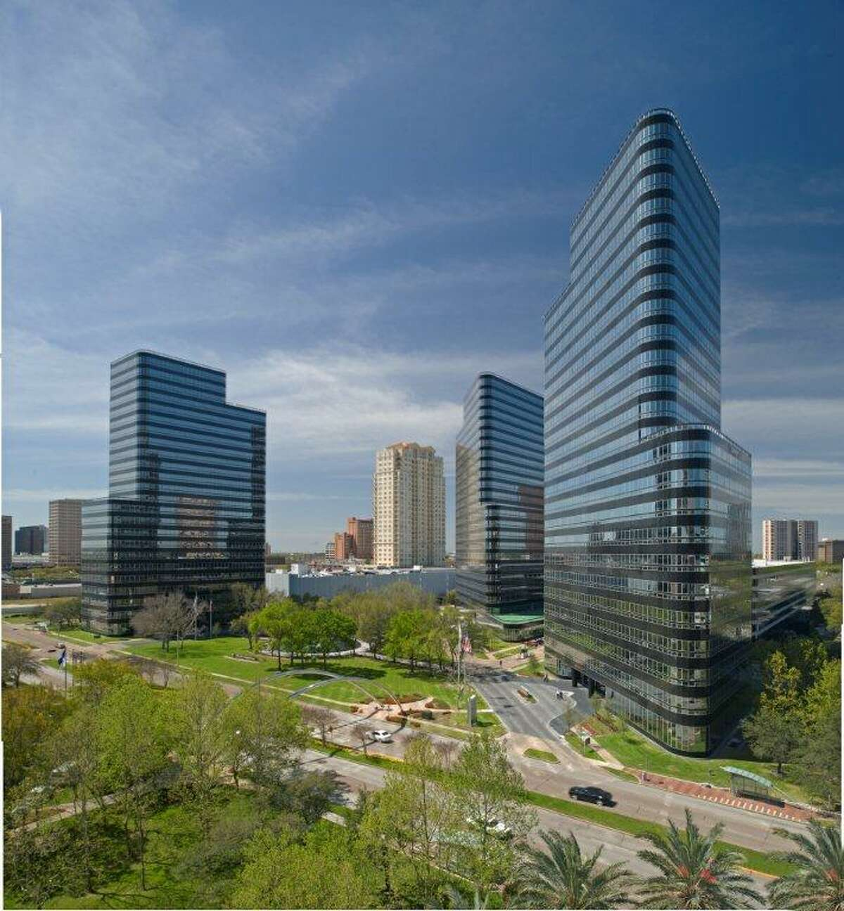 Apache Corp., an energy company with its headquarters at the Post Oak Central office complex, has purchased 6.4 acres of nearby BLVD Place.