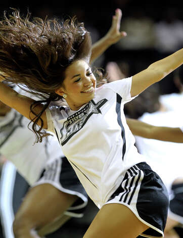 Dancers perform as the San antonio Silver Stars play the Phoenix Mercury at the AT&T Center on  June 1, 2012. Photo: Tom Reel, Express-News / ©2012 San Antono Express-News