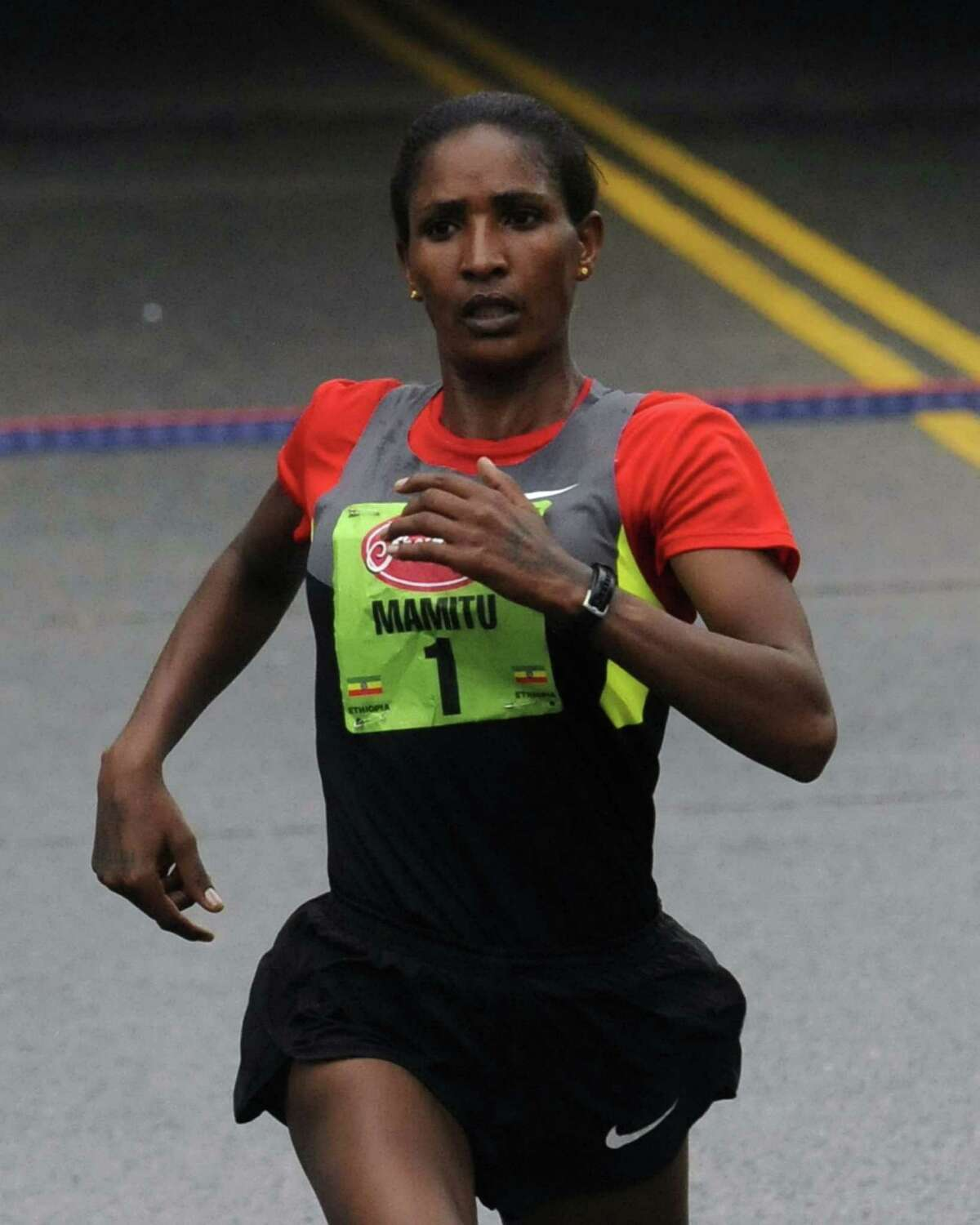 Mamitu Daska wins the 34th annual Freihofer's Run for Women in Albany N.Y. Saturday June 2, 2012. (Michael P. Farrell/Times Union)