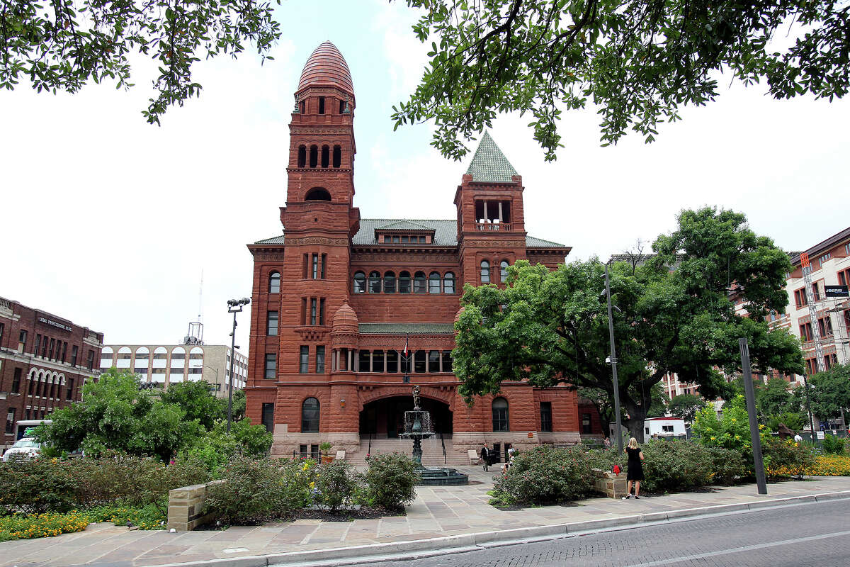 Exterior views of the Bexar County Courthouse on May 30, 2012.