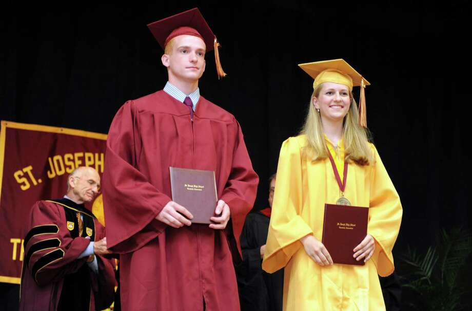 St. Joseph High School holds its commencement exercises Saturday, June 2, 2012 at the school in Trumbull, Conn. Photo: Autumn Driscoll / Connecticut Post