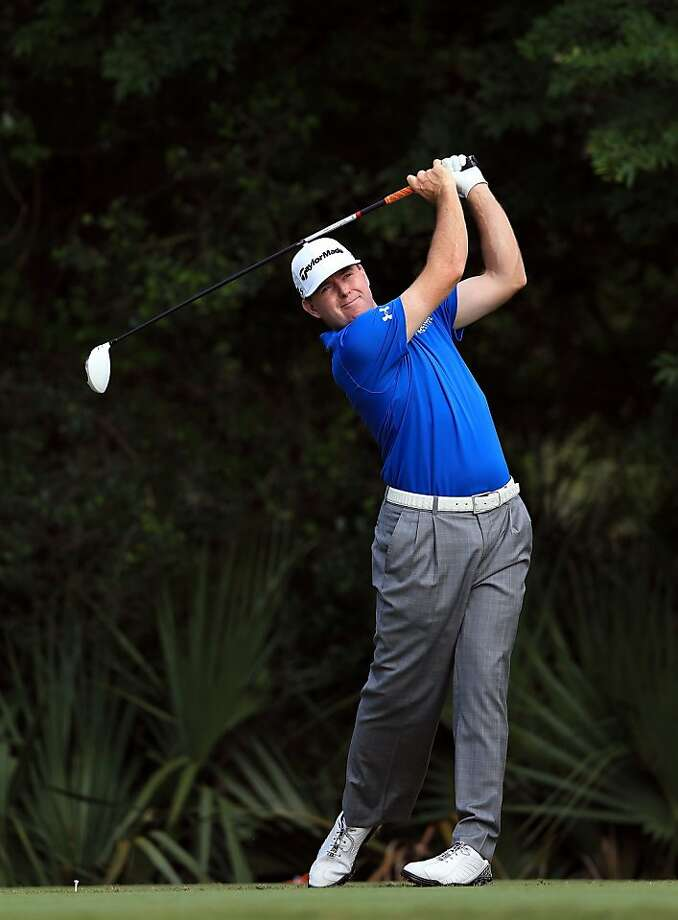 PONTE VEDRA BEACH, FL - MAY 10:  Robert Garrigus of the USA plays his tee shot on the par 4, 5th hole during the first round of THE PLAYERS Championship held at THE PLAYERS Stadium course at TPC Sawgrass on May 10, 2012 in Ponte Vedra Beach, Florida.  (Photo by David Cannon/Getty Images) Photo: David Cannon, Getty Images