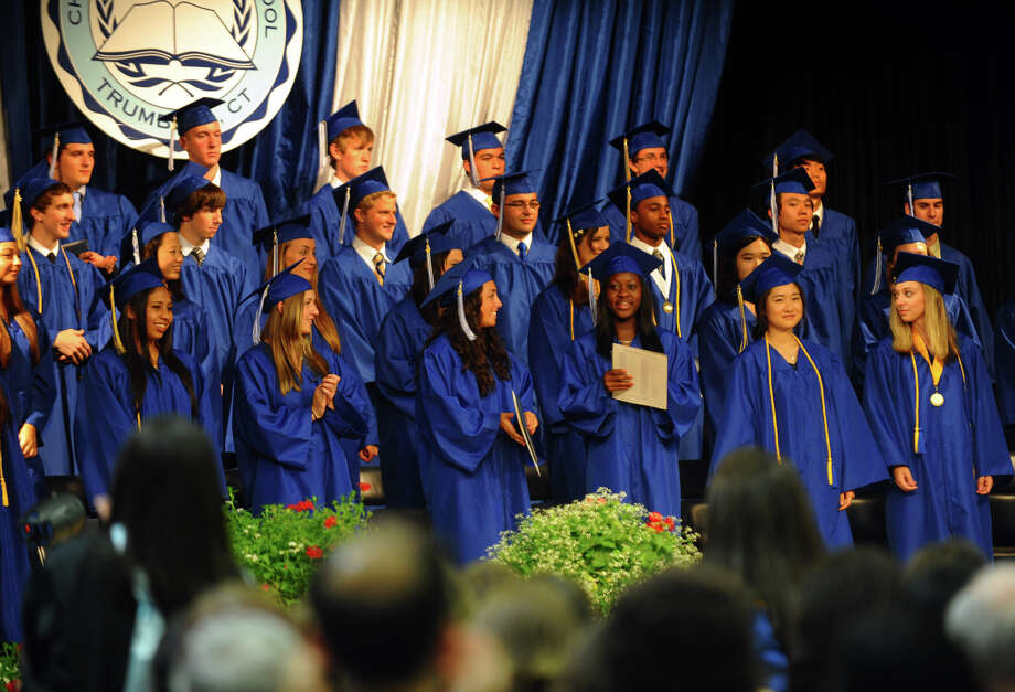 The Class of 2012 is presented to family and friends, during Christian Heritage School's 29th Annual Commencement Exercises in Trumbull, Conn. on Saturday June 2, 2012. Photo: Christian Abraham / Connecticut Post