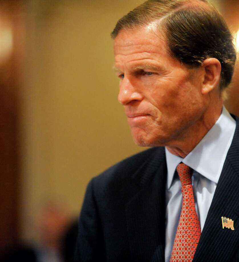 "U.S. Sen. Richard Blumenthal, D-Conn., shown here during ""Hiring Our Heroes,"" a forum hosted by the Southern Connecticut Chapter of the Society for Human Resource Management at the Norwalk Inn and Conference Center May 30, 2012, was a featured speaker at the 70th annual Round Hill Association meeting Thursday, May 31, 2012. Photo: Lindsay Niegelberg / Stamford Advocate"
