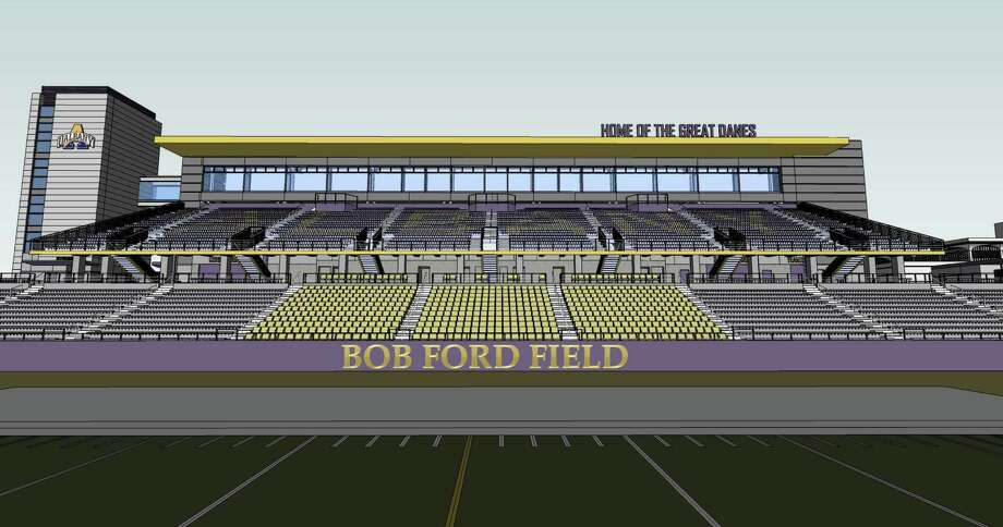 Rendering of the new Bob Ford Field football stadium at the University at Albany. (Courtesy UAlbany) Photo: Bl757317 / 00017809A
