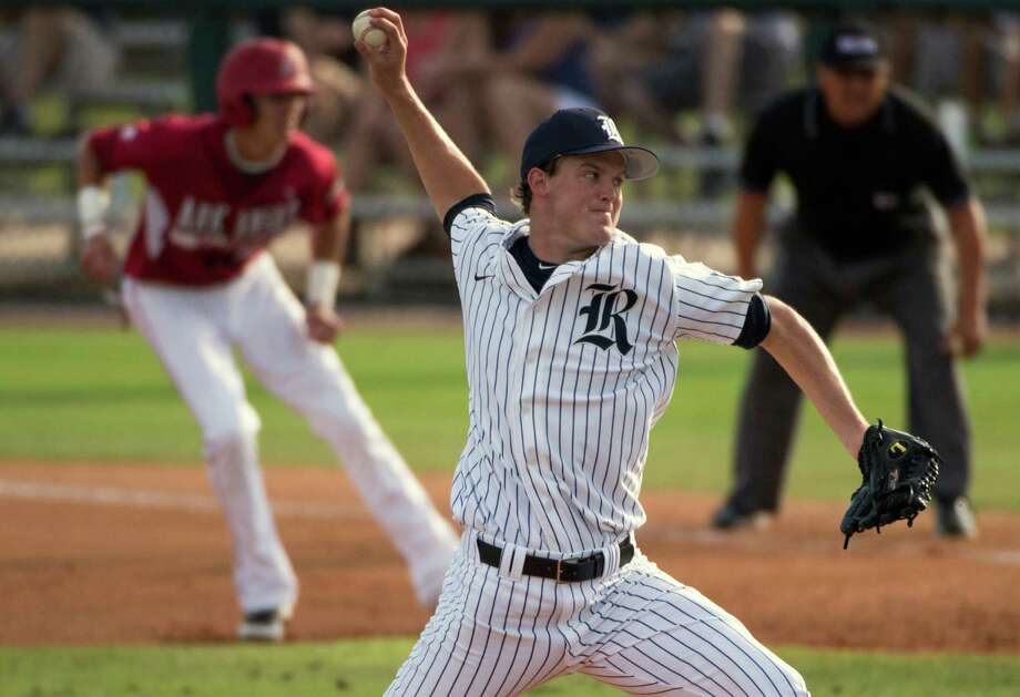 Rice starting pitchers - Kubitza, Jordan Stephens and  Simms –  combined to allow three runs and held the Stanford Cardinal to a .145  batting  average in the season-opening series. Photo: Smiley N. Pool, Houston Chronicle / © 2012  Houston Chronicle