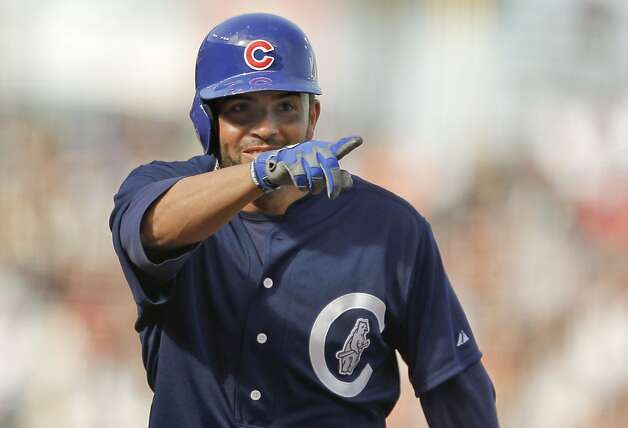 Cubs David DeJesus with a solo home run in the fourth inning, as the San Francisco Giants take on the Chicago Cubs at AT&T Park in San Francisco , Ca. on Saturday June 2, 2012. Photo: Michael Macor, The Chronicle