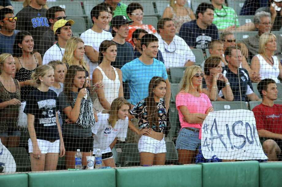 Boerne Champion Chargers fans watch as their team goes down in defeat to Lake Travis during Class 4A regional finals baseball action at Wolff Stadium on Saturday, June 2, 2012. Photo: Billy Calzada, Express-News / © 2012 San Antonio Express-News
