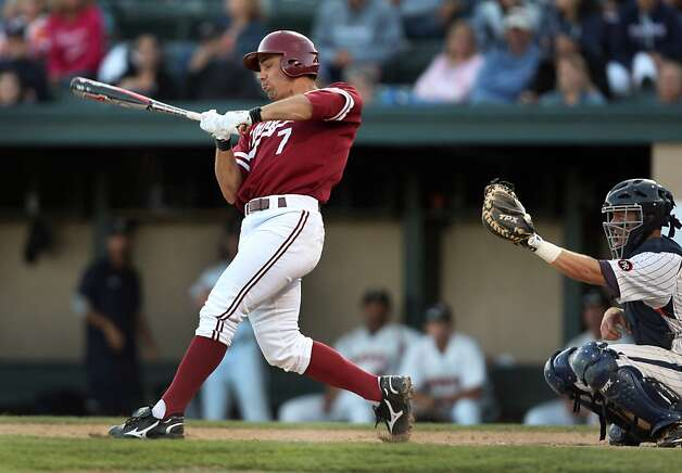 Tyler Gaffney swings on Saturday during the NCAA regional game versus Pepperdine. Stanford met Pepperdine at Sunken Diamond on Saturday for the 2nd NCAA Regional game. Photo: Kevin Johnson, The Chronicle