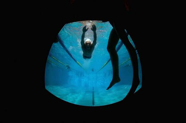 SANTA CLARA, CA - JUNE 02:  Athletes swim in the warm up pool during day 3 of the Santa Clara International Grand Prix at George F. Haines International Swim Center on June 2, 2012 in Santa Clara, California.  (Photo by Ezra Shaw/Getty Images) Photo: Ezra Shaw, Getty Images