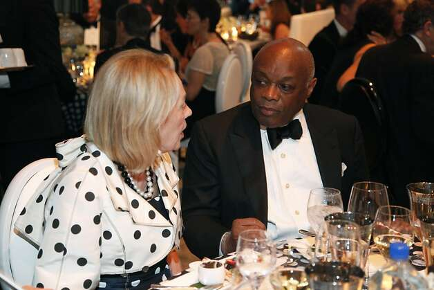 Governor Jerry Brown relaxes at the Black and White Ball celebrating the 100th Anniversary of the San Francisco Symphony on Saturday, June 2, 2012. Photo: Alex Washburn