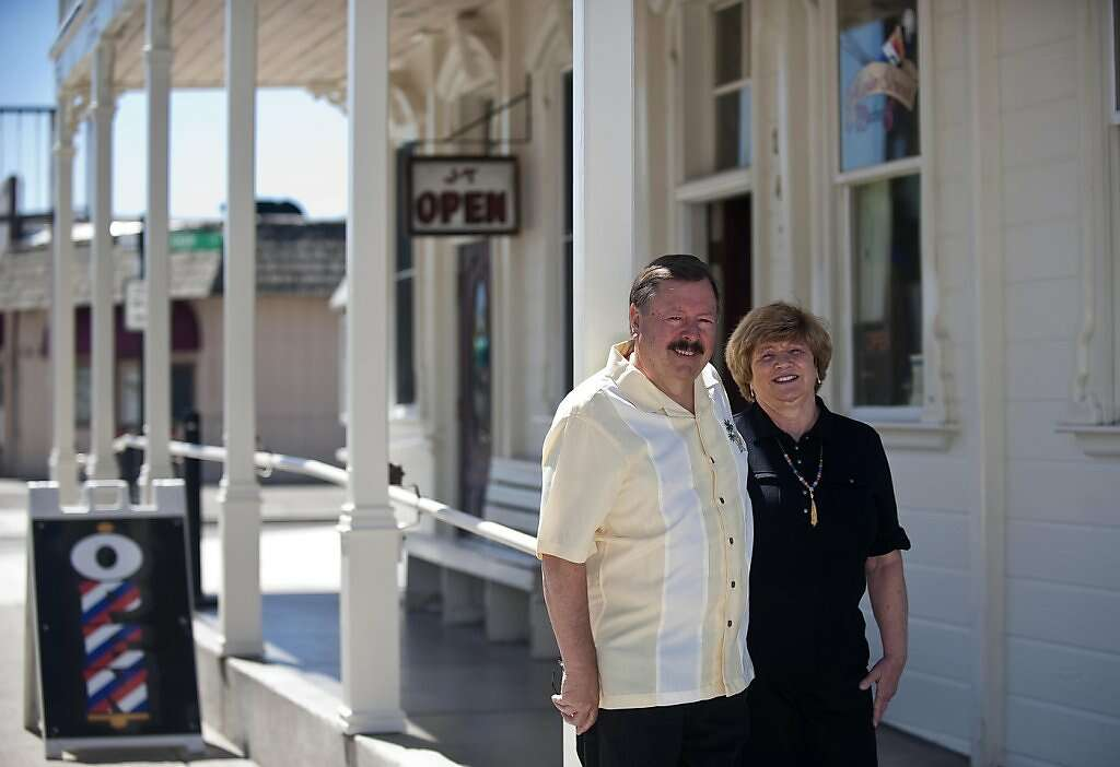 Marty And Linda Martin Stand Outside The JT Basque Bar Dining Room Tuesday May