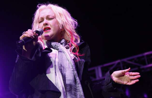 Cindy Lauper gets bluesy for San Francisco during the Black and White Ball celebrating the 100th Anniversary of the San Francisco Symphony on Saturday, June 2, 2012. She finished her set with a modern rendition of none-other than 'Girls Just Wanna Have Fun' which sent the audience into over drive. Photo: Alex Washburn