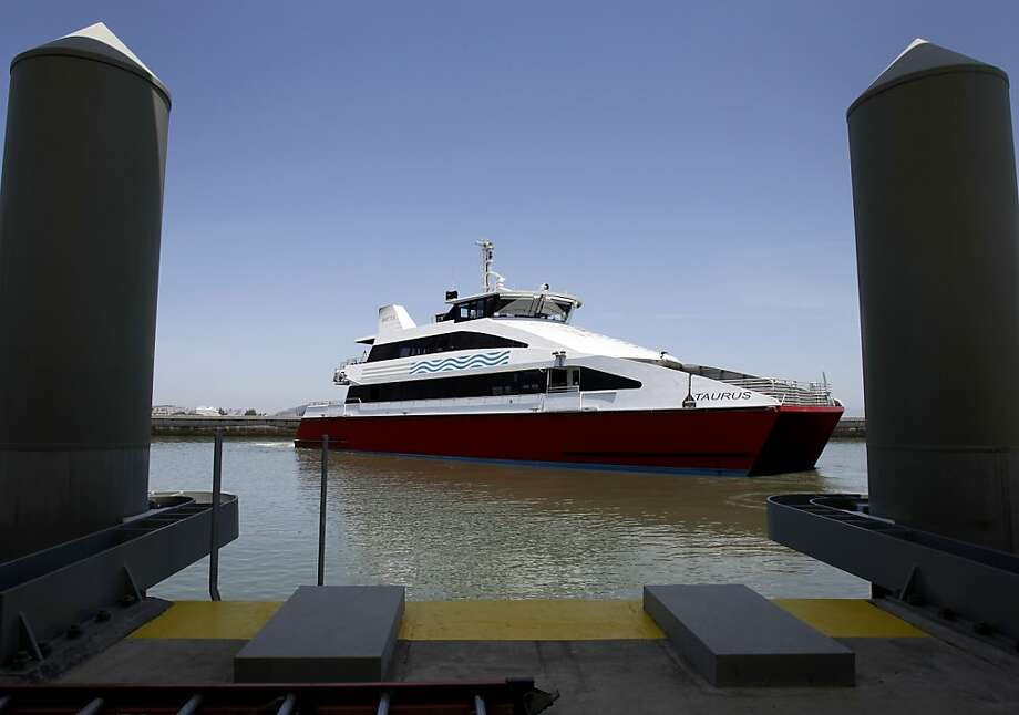 The Taurus is one of the catamarans that will serve the new route designed especially for South San Francisco commuters. Photo: Brant Ward, The Chronicle