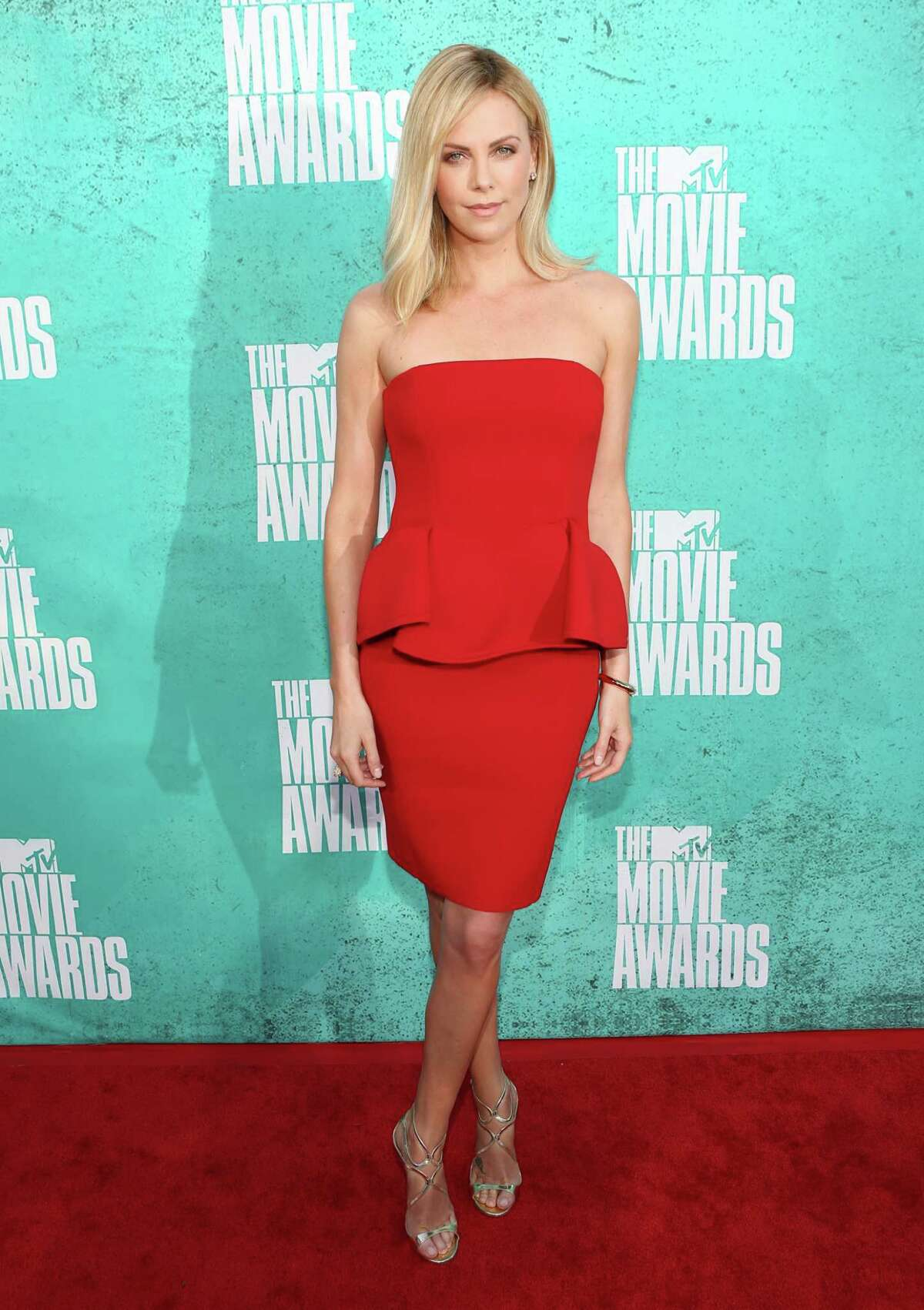 UNIVERSAL CITY, CA - JUNE 03: Actress Charlize Theron arrives at the 2012 MTV Movie Awards held at Gibson Amphitheatre on June 3, 2012 in Universal City, California.
