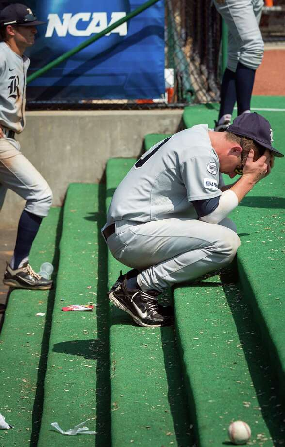 Craig Manuel ponders the Owls' fate after the final out of the 4-1 loss to Sam Houston State. Photo: Smiley N. Pool / © 2012  Houston Chronicle