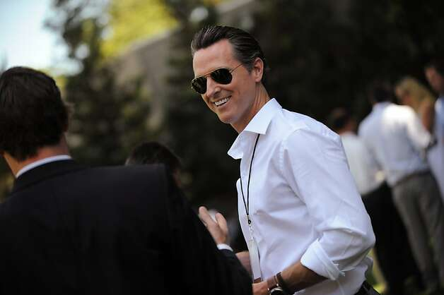 How has Gavin Newsom been spending his time as lieutenant governor? His office says they'll get back to us on that. Photo: Erik Castro, Special To The Chronicle