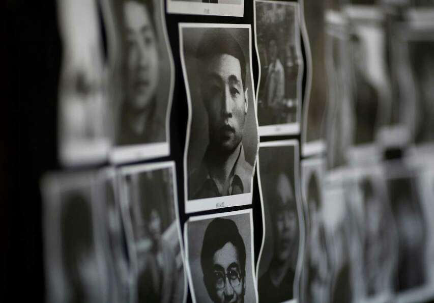 Portraits of victims of the June 4, 1989 bloodshed are displayed at the June 4 Memorial Museum run b