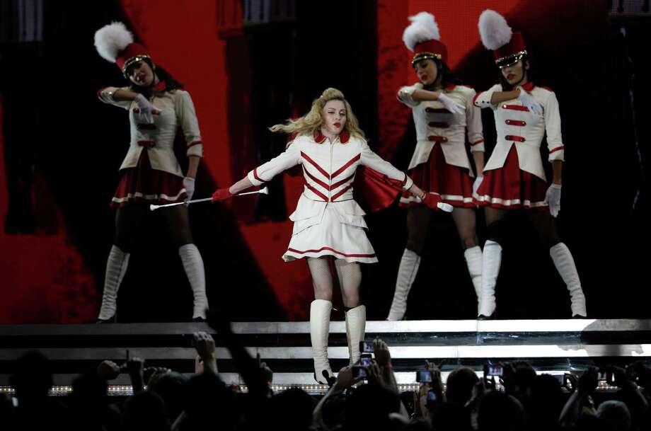 U.S pop icon Madonna performs at the Yas Island in Abu Dhabi , United Arab Emirates, Sunday, June 3, 2012. Photo: Kamran Jebreili, AP / AP