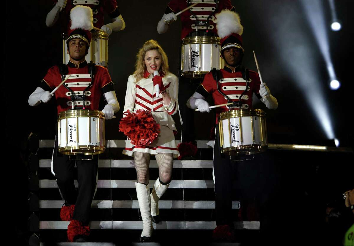 U.S pop icon Madonna performs at the Yas Island in Abu Dhabi , United Arab Emirates, Sunday, June 3, 2012.