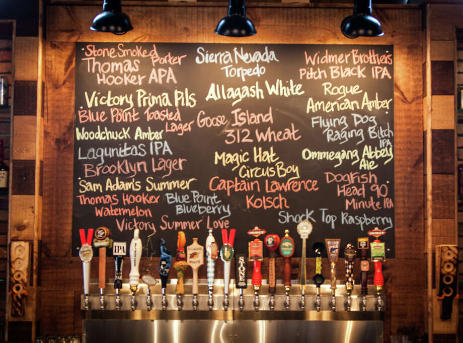Bar Q in Stamford Conn. features many beers on tap. Photo: Contributed Photo
