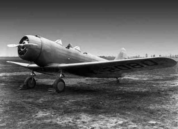 North American first flew the NA-16 basic trainer in 1935, pitching it to the U.S. Army Air Corps. The low-wing monoplane had open cockpits in tandem and a fixed, unfaired undercarriage. Photo: The Boeing Co.