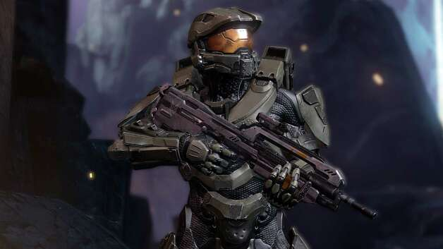 Here's Master Chief in his Halo game element. Photo: AP