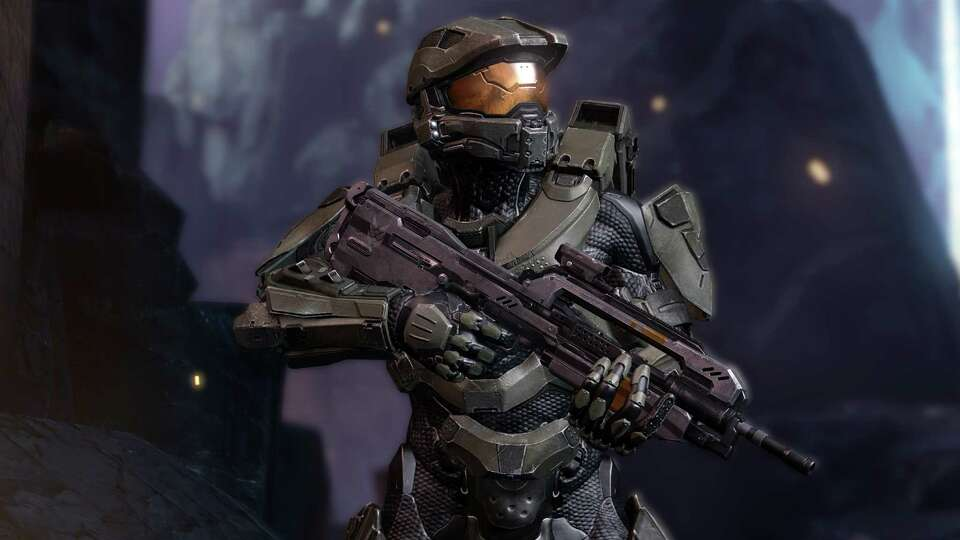 Here's Master Chief in his Halo game element.