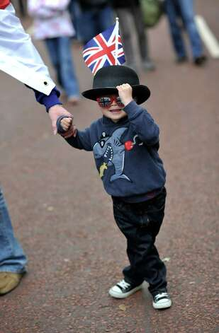 LONDON, ENGLAND - JUNE 04:  A boy wears the Union Jack flag in the Mall prior to the Diamond Jubilee Buckingham Palace Concert on June 4, 2012 in London, England. For only the second time in it's history, the UK celebrates the Diamond Jubilee of a monarch. Her Majesty Queen Elizabeth II celebrates the 60th anniversary of her ascension to the throne. Photo: Gareth Cattermole, Getty Images / 2012 Getty Images