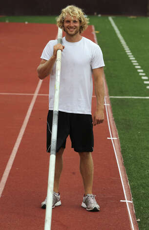 Texas State University pole vaulter Logan Cunningham is a former standout from Smithson Valley High School and will be competing next week in Des Moines, Iowa at the NCAA Outdoor Track and Field Championships. Photo: San Antonio Express-News