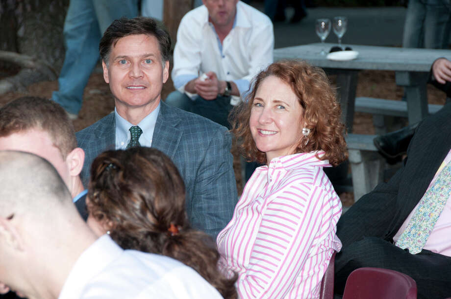 DEEP Commissioner Daniel Esty with wife, Elizabeth Esty. Photo: Roger Salls / Connecticut Post
