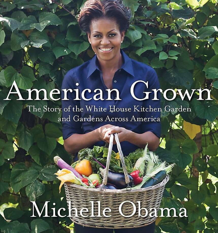 "This book cover image released by Crown Publishing shows first lady Michelle Obama on the cover of her book ""American Grown: The Story of the White House Kitchen Garden and Gardens Across America."" (AP Photo/Crown Publishing, Quentin Bacon Photography) Photo: Quentin Bacon Photography, Associated Press"