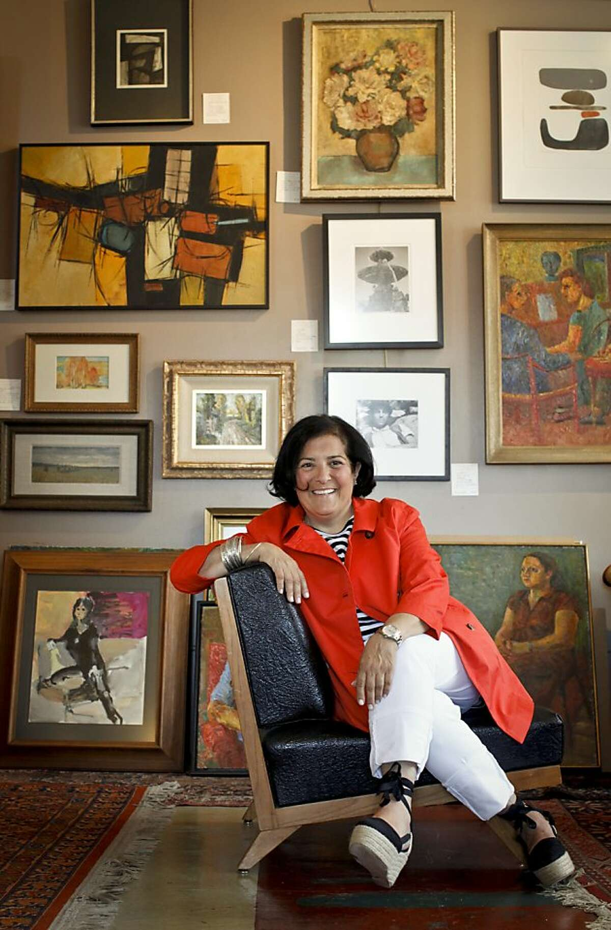 """Williams Sonoma design director Monelle Totah is seen in the, """"Lost Art Salon,"""" on Wednesday, May 30, 2012 in San Francisco, Calif."""