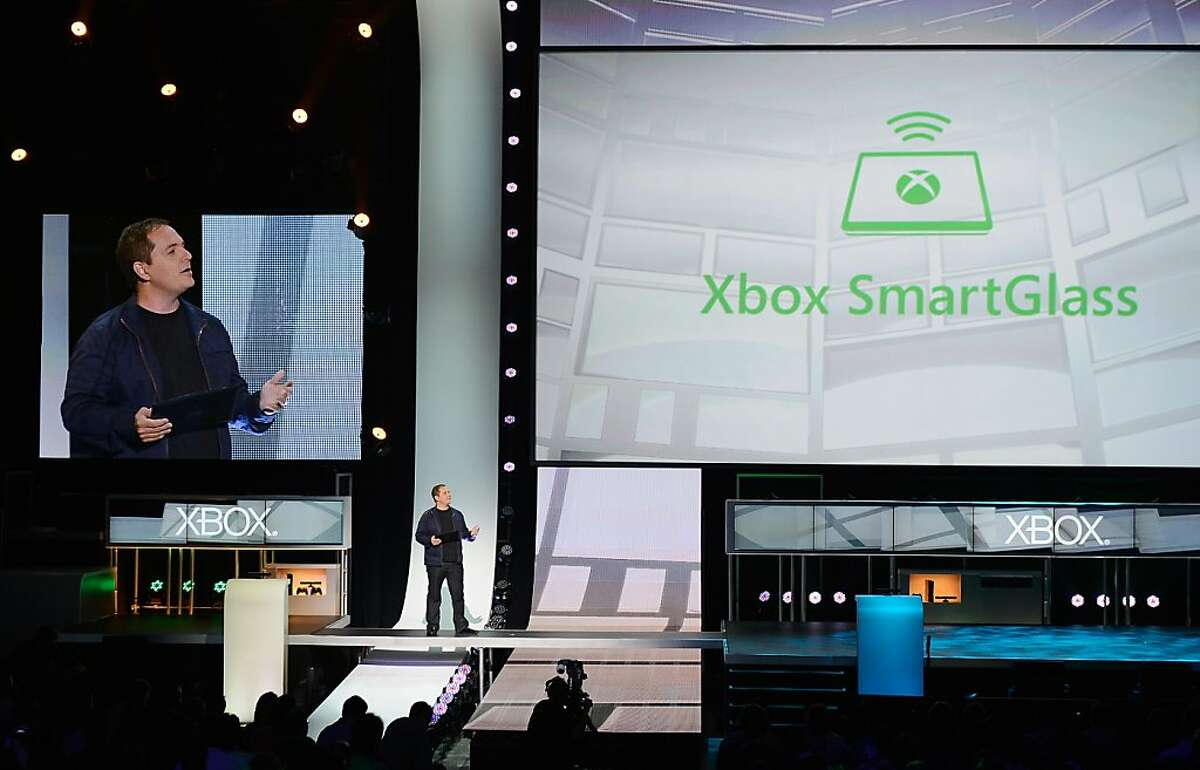 LOS ANGELES, CA - JUNE 04: Xbox Live executive Marc Whitten introduces Smart Glass technology during the Microsoft Xbox press conference at the Electronic Entertainment Expo at the Galen Center on June 4, 2012 in Los Angeles, California. Thousands are expected to attend the annual three-day convention to see the latest games and announcements from the gaming industry. (Photo by Kevork Djansezian/Getty Images)