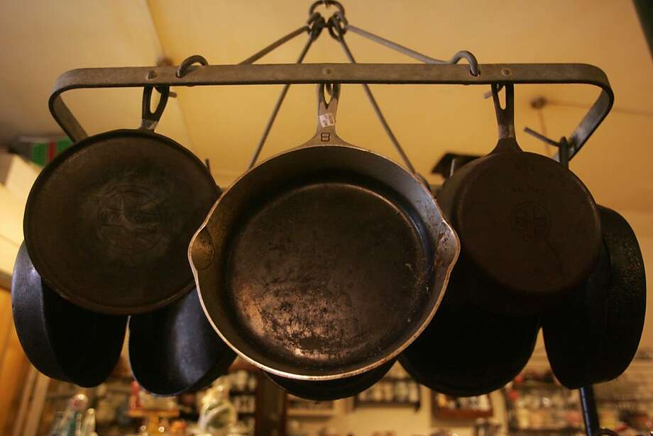 Cast iron cookware is a popular item at Cookin', a second-hand cooking shop on Divisadero. Photo: Mathew Sumner, Special To The Chronicle