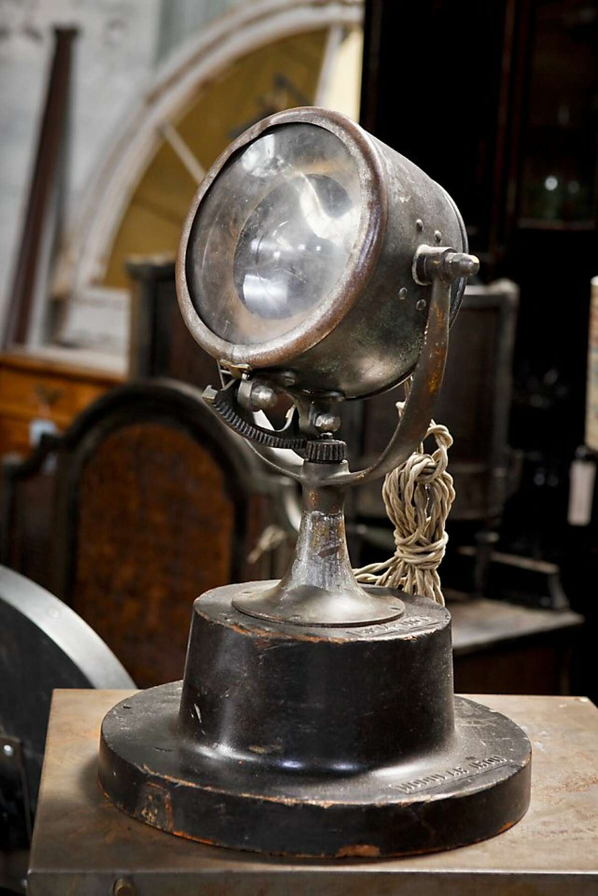 An antique lamp is seen in Big Daddy's Antiques on Monday, Aug. 1, 2011 in San Francisco, Calif.