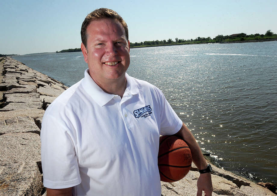 Pictured on the Port Arthur Seawall, Lance Madison is the new basketball coach for Lamar State College-Port Arthur. The Sea Hawks is Madison's first head coaching position.  Photo taken Friday, June 1, 2012 Guiseppe Barranco/The Enterprise Photo: Guiseppe Barranco, STAFF PHOTOGRAPHER / The Beaumont Enterprise