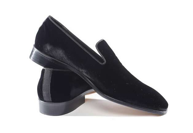 Men's opera pumps ($325, Saks Fifth Avenue, Union Square) from Saks house men's line. Photo: Russell Yip, The Chronicle / SF