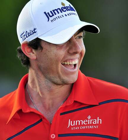 Northern Irish golfer Rory McIlroy smiles after finishing the second round of the BMW PGA Championship at Wentworth Golf Club in Surrey, on May 25, 2012. AFP PHOTO/GLYN KIRKGLYN KIRK/AFP/GettyImages Photo: Glyn Kirk, AFP/Getty Images