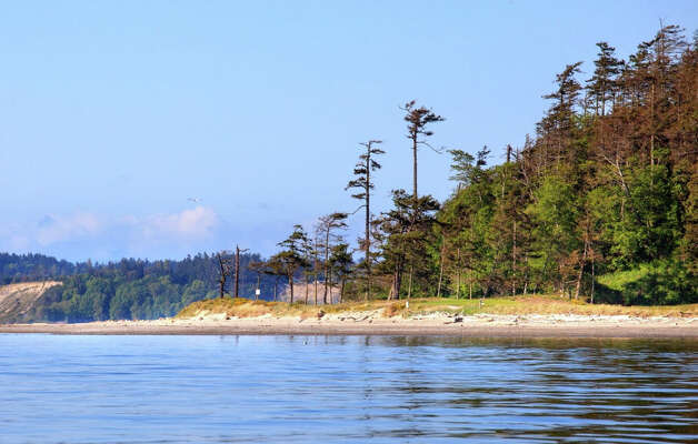 A view of James Island, a 780-acre private island in British Columbia's Gulf Islands. Photo: Courtesy Mark Lester And Alan Johnson/Sotheby's International Realty