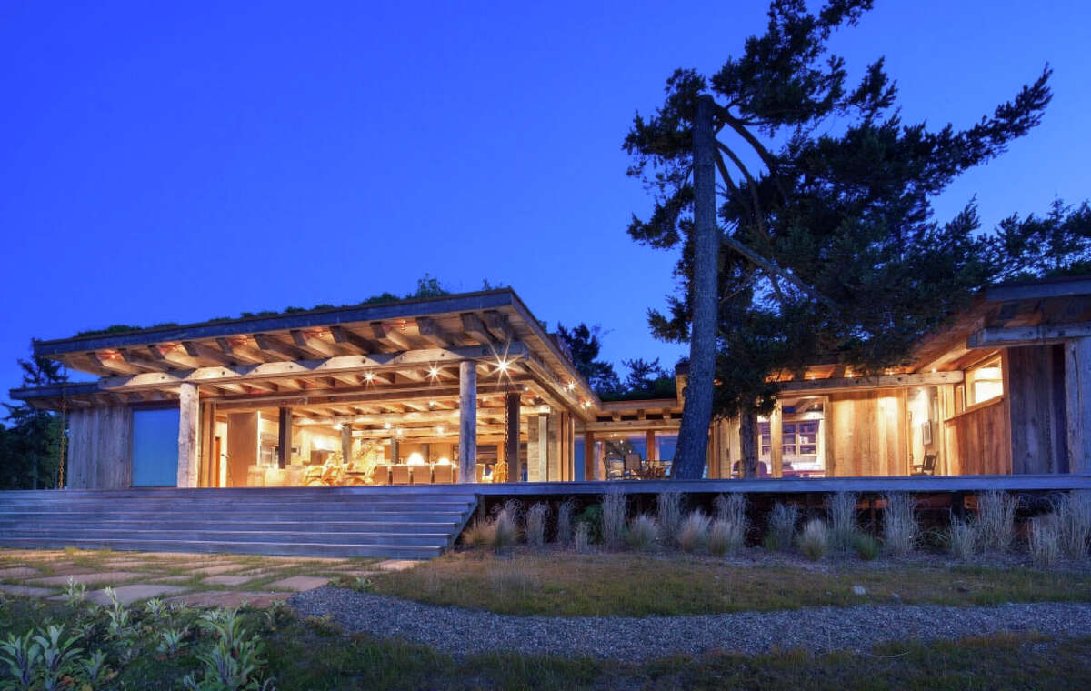 The main house on James Island, a 780-acre private island in British Columbia's Gulf Islands.