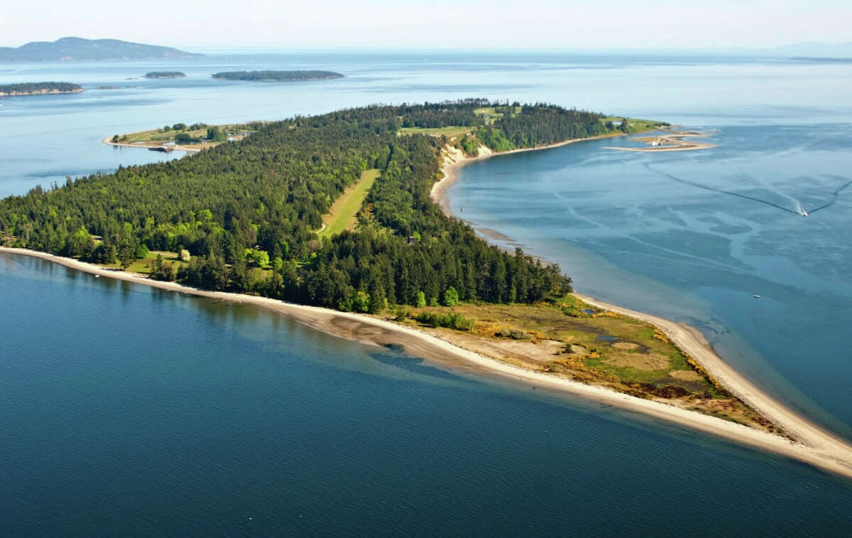 Another view of James Island, a 780-acre private island in British Columbia's Gulf Islands.