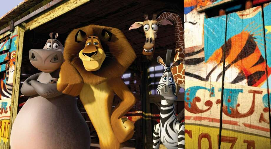 "The core idea for ""Madagascar 3: Europe's Most Wanted,"" in which Gloria, Alex, Melman and Marty try to lie low in a traveling circus, was planted even before the second film's release. Photo: Paramount Pictures"