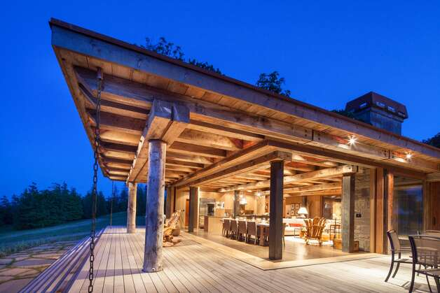 The main house on James Island, a 780-acre private island in British Columbia's Gulf Islands. Photo: Courtesy Mark Lester And Alan Johson/Sotheby's International Realty