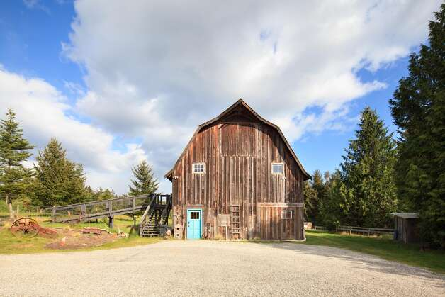 The reclaimed barn on James Island. Photo: Courtesy Mark Lester And Alan Johson/Sotheby's International Realty