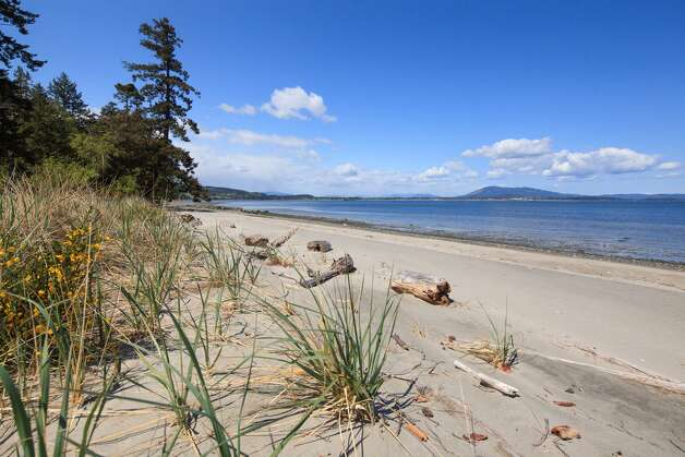 A beach on James Island in British Columbia's Gulf Islands. Photo: Courtesy Mark Lester And Alan Johson/Sotheby's International Realty