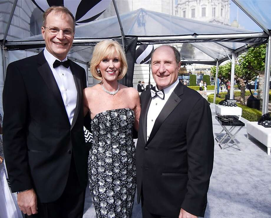 SF Symphony Executive Director Brent Assink (left) with B&W Ball Chairwoman Patricia Sprincin and SFS President John Goldman. June 2012. By Catherine Bigelow. Photo: Catherine Bigelow, Special To The Chronicle