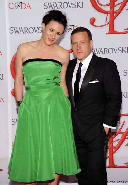 Garance Dore and Scott Schuman attend the 2012 CFDA Fashion Awards at Alice Tully Hall on June 4, 20