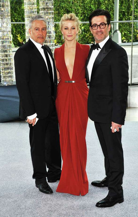 Kenneth Kaufman, Julianne Hough and Isaac Franco  attends the 2012 CFDA Fashion Awards at Alice Tully Hall on June 4, 2012 in New York City. Photo: Larry Busacca, Getty Images / 2012 Getty Images